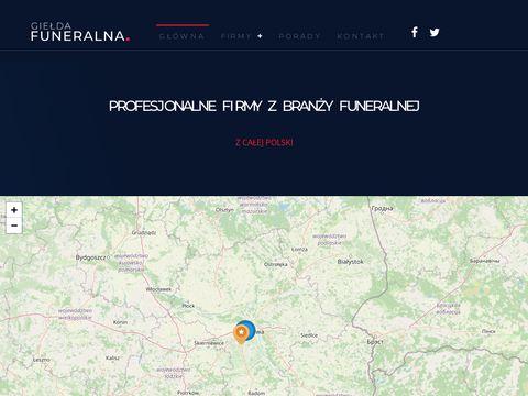 Gieldafuneralna.pl - zakłady pogrzebowe w Polsce