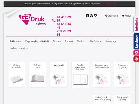 G3druk.pl drukarnia w Poznaniu - szeroka oferta