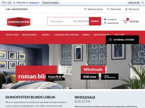 Domosystem.pl firany Lublin - sklep zasłony