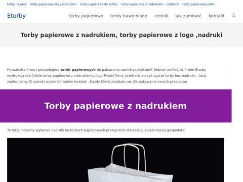 Etorby.eu papierowe z nadrukiem - Lublin