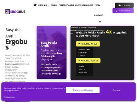 Ergobus.eu wyjazdy z Polski do Anglii