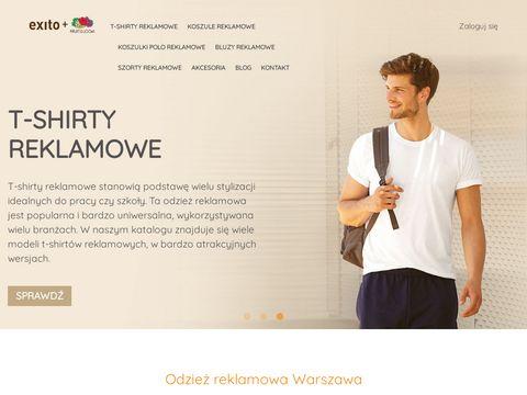 Exitogroup.fotl.pl odzież reklamowa w Warszawie
