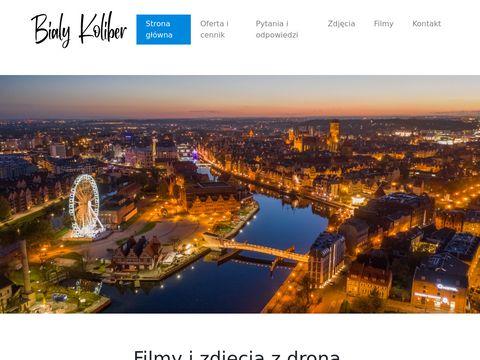 Bialykoliber.pl filmy i zdjęcia z drona