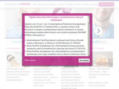 Cosinusmed.pl laserowe zamykanie naczynek