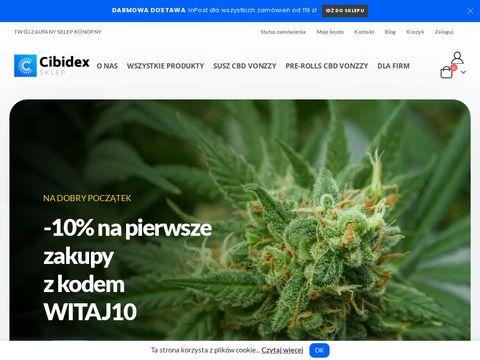 Cibidex.pl - produkty CBD susz, olejek, olej