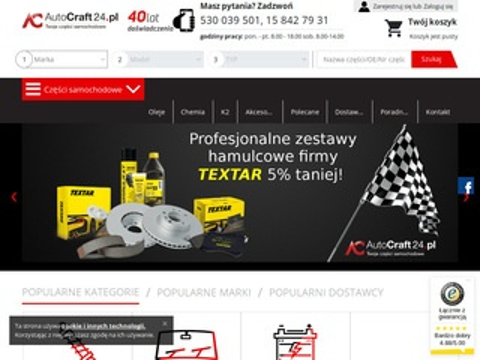 AutoCraft24.pl - sklep z częściami samochodowymi