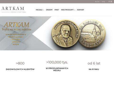 Artskam.pl medale okolicznościowe na zamówienie