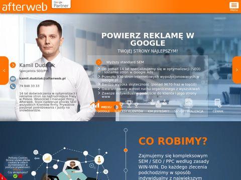 Afterweb wyższy standard SEO/SEM