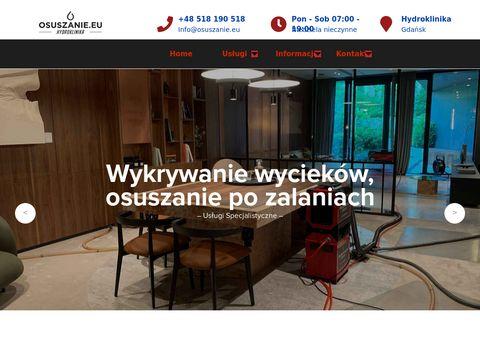 Osuszanie.eu wykrywanie wycieków Gdańsk
