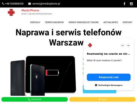 Medicphone.pl wymiana szybki w telefonie Warszawa