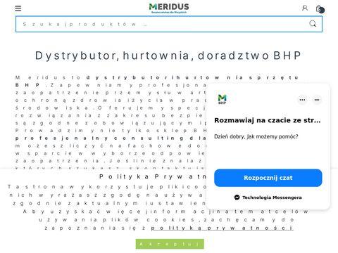 Meridus.pl sklep BHP, odzież robocza