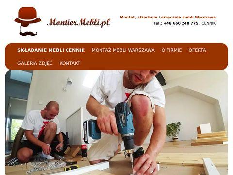 Montiermebli.pl montaż mebli Warszawa