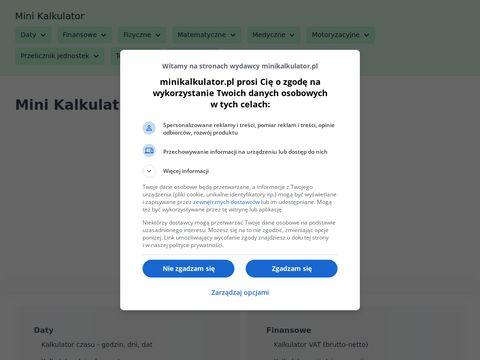 Minikalkulator.pl macierzy