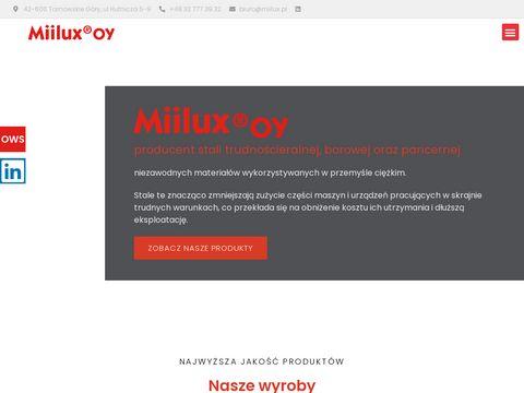 Miilux - zakład produkcji stali, blachy, łyżek