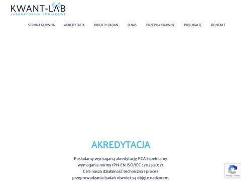 Kwant-lab.pl - laboratorium akredytowane
