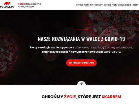 Koronawirus.cormay.pl testy na sars-cov-2