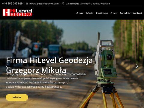 Hilevelgeodezja.pl - usługi geodezyjne Nowy Targ