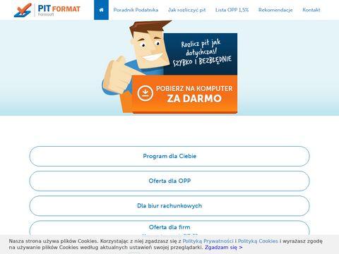 Pit-format.pl darmowy program 2018