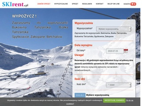 SKIrent.pl - wypożyczalnia sprzętu zimowego