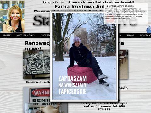 Starenanowe.pl renowacja mebli