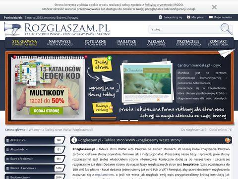 Rozglaszam.pl rozgłaszamy wasze strony
