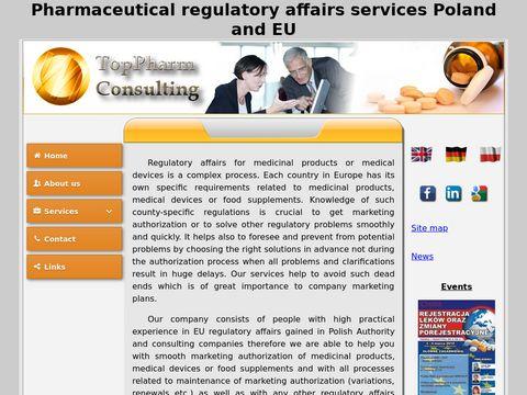 TopPharm - eCTD i usługi rejestracji leków
