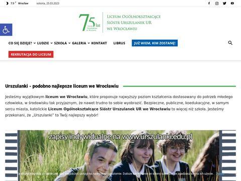 Urszulanki.edu.pl - liceum we Wrocławiu