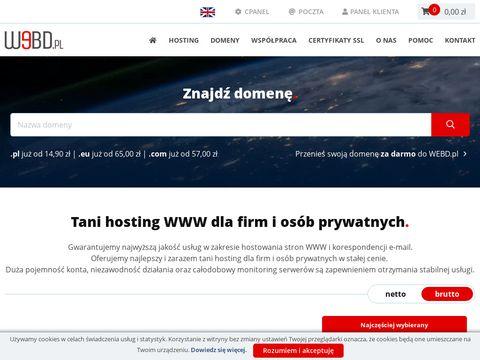 Tani dobry hosting - webd.pl