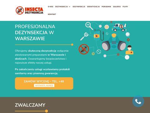 Insecta - wymrażanie pluskiew Warszawa