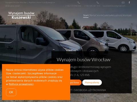 Wynajem busów Kuszewski - wypożyczalnia Wrocław