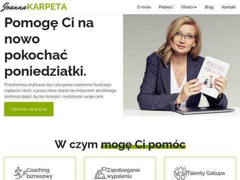 Joannakarpeta.pl coaching menedżerski