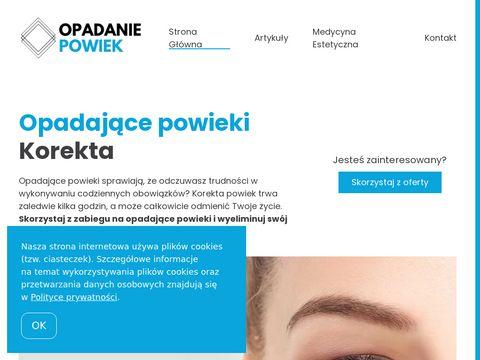 Opadanie-powiek.pl korekta - niezbędne informacje