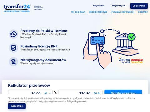 Transfer24 - szybkie internetowe przelewy