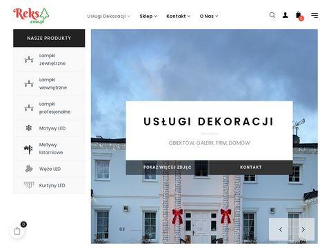 Reks.com.pl dekoracje świąteczne budynków