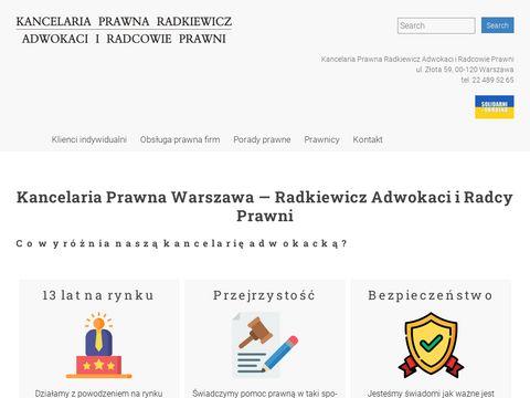 Radkiewicz.net.pl kancelaria prawna