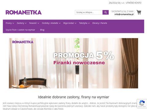 Romanetka.pl - zasłony żakardowe