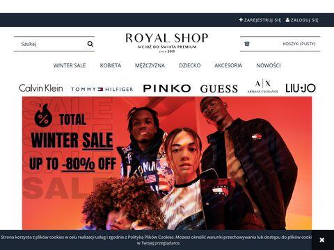 Royal Shop - markowe ubrania - końcówki kolekcji
