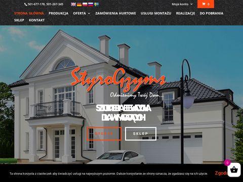 Styro-gzyms.pl sztukateria elewacyjna - listwy