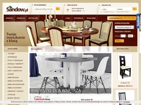 Sandow.pl producent stołów i krzeseł