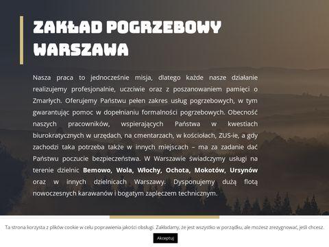 Pogrzeby24.waw.pl zakłady pogrzebowe Warszawa