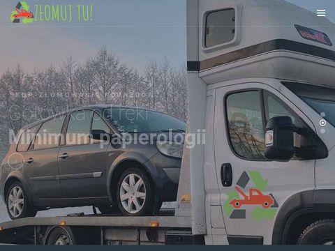 Zlomujtu.pl złomowanie aut Łódź