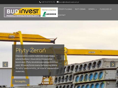 Produkcja materiałów budowlanych - Md Budinvest