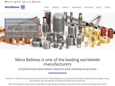 Merabellows.com - mieszki metalowe
