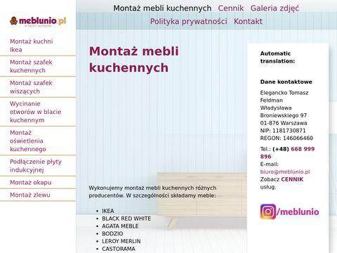 Meblunio.pl - montaż kuchni Ikea Warszawa