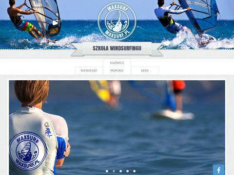 Windsurfing w Kuźnicy