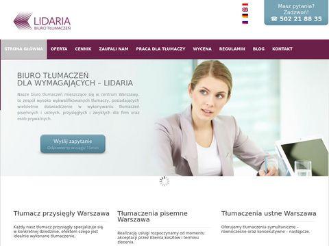 Biuro tłumaczeń Lidaria tanio i profesjonalnie