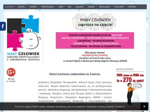 Osrodekmalyczlowiek.pl - terapia autyzmu