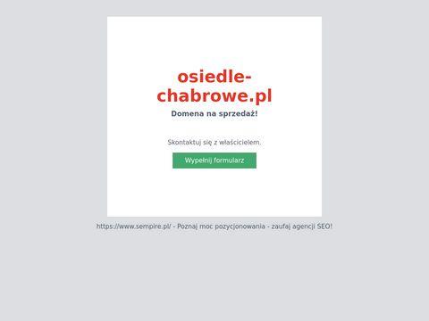 Osiedle Chabrowe domy na sprzedaż