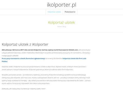 Kolportaż i plakatowanie - agencja ikolporter