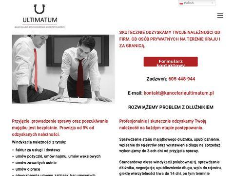 Kancelaria Ultimatum - windykacja